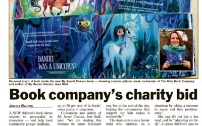 Book company's charity bid